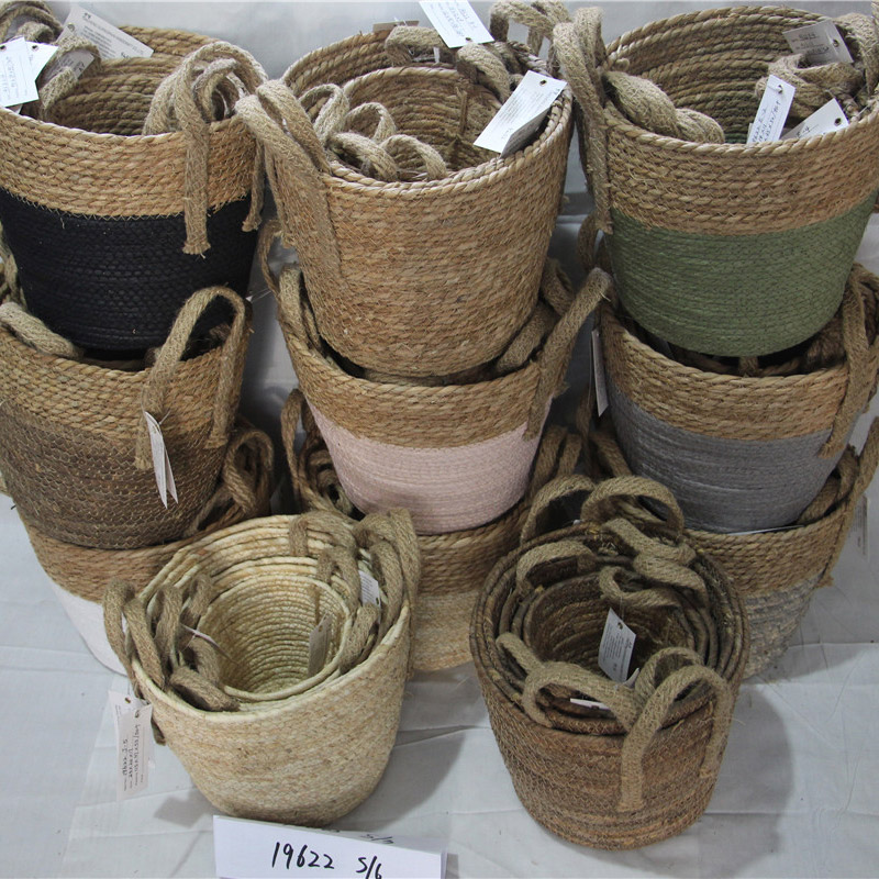Very good fashion straw basket and storage basket for home decoration