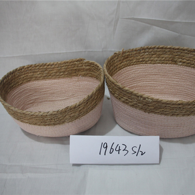 Handmade grass natural water hyacinth storage basket